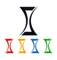 hourglass icons award statuette shaped logo design vector image