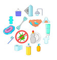hygiene icons set cartoon style vector image vector image