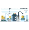 Industrial conveyor belt line vector image