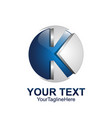 initial letter k logo template colored blue grey vector image vector image