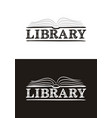 logo for library hand-drawn icon a book vector image vector image
