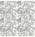 lowers seamless pattern background vector image