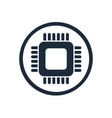 microchip chip circuit component vector image vector image