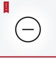 minus icon in modern style for web site and vector image vector image