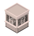 newspaper street shop icon isometric style vector image vector image