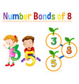 number bonds of eight vector image