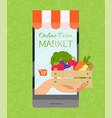 online farm market banner poster vector image vector image
