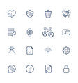 outline icons for web and mobile editable vector image vector image