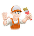 painter or decorator man vector image