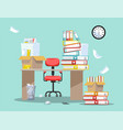 period accountants and financier reports vector image