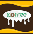 premium coffee label coffee badge coffee emblem vector image vector image