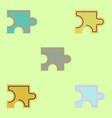 puzzle piece set vector image vector image