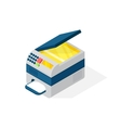 Realistic printer isometric vector image vector image