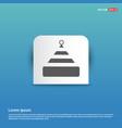 santa claus hat icon - blue sticker button vector image