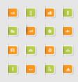 set a collection unique paper stickers icon vector image vector image