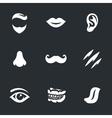 set face parts vector image