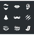 Set of Face parts vector image vector image