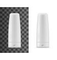 shampoo or balm bottles isolated mockup vector image vector image