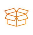 storage box empty information web icon vector image
