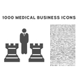 Strategy Icon with 1000 Medical Business Symbols vector image vector image