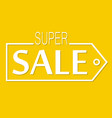 super sale discount banner vector image