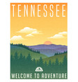 tennessee mountains travel poster vector image vector image