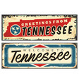 tennessee usa vintage tin sign vector image