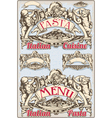 Vintage Graphic Element for Italian Pasta Menu vector image vector image