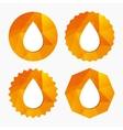 Water drop sign icon Tear symbol vector image vector image