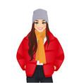winter woman clothes vector image vector image