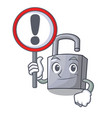 with sign character padlock on the wooden door vector image