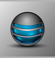 blue sphere as emblem vector image