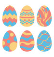 easter eggs set isolated group vector image