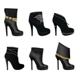 set of womens boots vector image