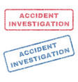 accident investigation textile stamps vector image