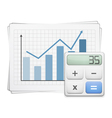 Finance Graph and Calculator vector image