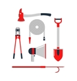 Firefighters tools set vector image