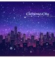 Night Christmas cityscape vector image