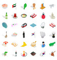asia icons set isometric style vector image vector image