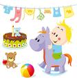 baon rocking horse vector image