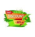 best discount 30 off summer sale emblem palm leaf vector image vector image