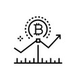 bitcoin growth rates - line design single vector image vector image