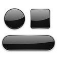 black glass buttons 3d icons vector image vector image