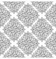 black hand drawn damask seamless pattern white vector image vector image