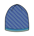 blue winter hat vector image vector image