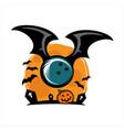 bowling halloween theme logo vector image vector image