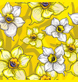 bright floral seamless pattern with yellow flowers vector image vector image
