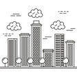 buildings cityscape isolated icon vector image vector image