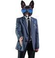 businessman man in a jacket with a dogs vector image vector image