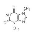 Caffeine molecule simple chemical skeletal